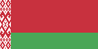 The flag of the Republic of Belarus
